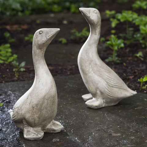 Kate's Goose Cast Stone Garden Statue - Outdoor Art Pros
