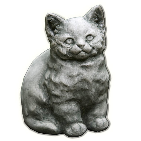 Kitty Cast Stone Garden Statue - Outdoor Art Pros