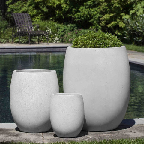 Laguna Planter in Playa Blanca - Set of 3 - Outdoor Art Pros