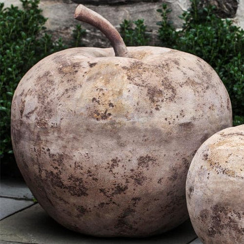 Large Rustic Apple Statue in Antico Terra Cotta - Outdoor Art Pros
