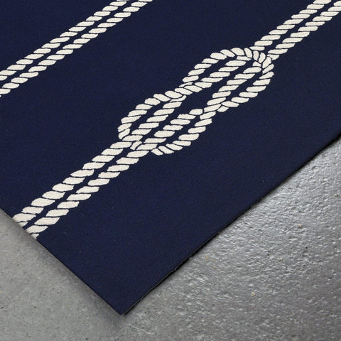 Liora Manne Capri Ropes Navy Area Rug - Outdoor Art Pros