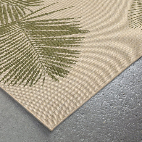Liora Manne Terrace Palm Green Area Rug - Outdoor Art Pros