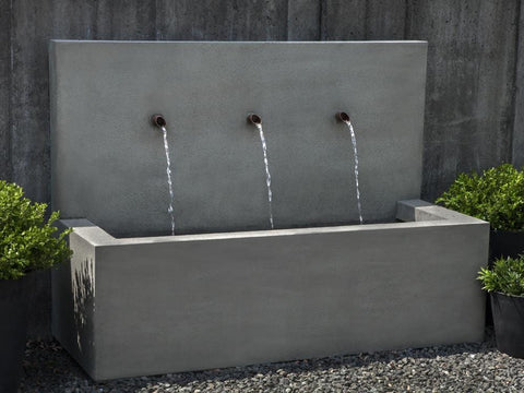 Long Beach Wall Outdoor Fountain   Outdoor Art Pros