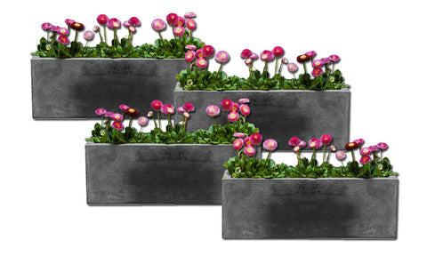 Long Geo Planter - Set of Four - Planters - Outdoor Art Pros