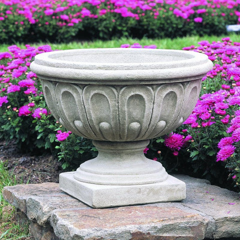 Longwood Fluted Urn Garden Planter - Outdoor Art Pros