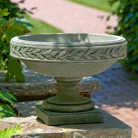 Longwood Laurel Banded Urn Garden Planter - Outdoor Art Pros