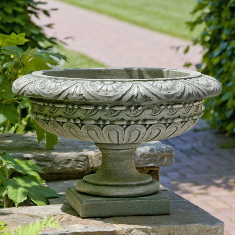 Longwood Rosette Urn Garden Planter - Outdoor Art Pros