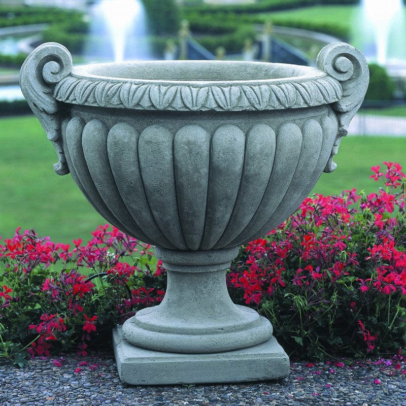 Perfect Longwood Volute Urn Garden Planter   Outdoor Art Pros ...