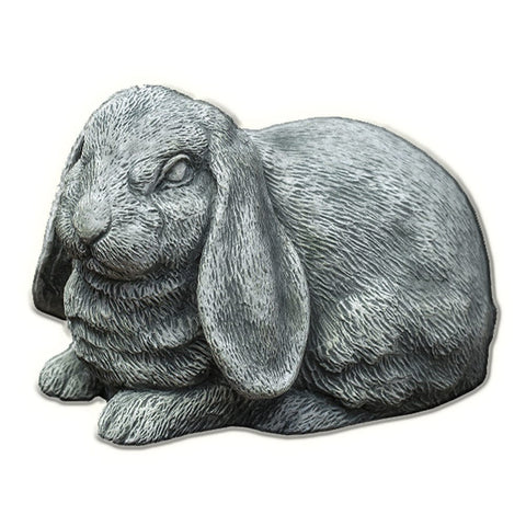 Lop-Eared Bunny Cast Stone Garden Statue - Outdoor Art Pros