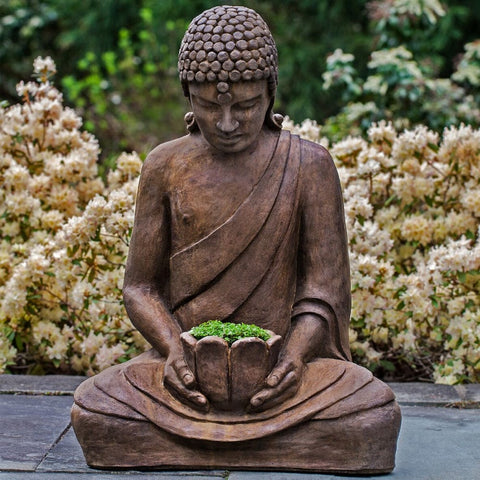Lotus Buddha Garden Statue - Outdoor Art Pros