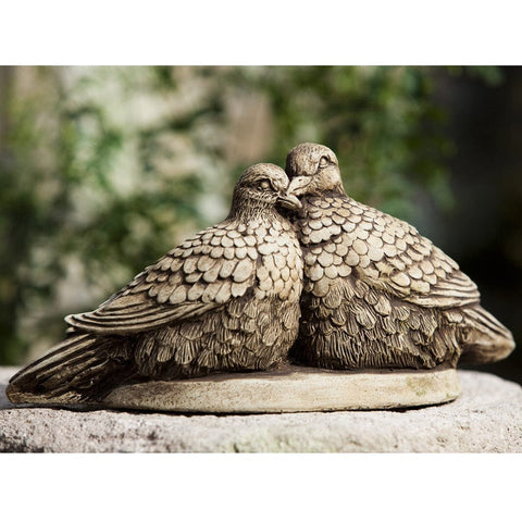 Lovebirds Cast Stone Garden Statue - Outdoor Art Pros