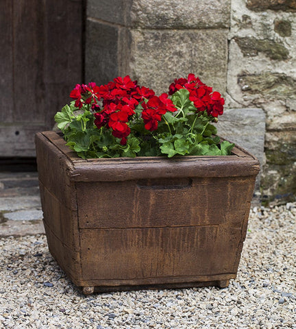Low Square Vendange Garden Planter - Outdoor Art Pros