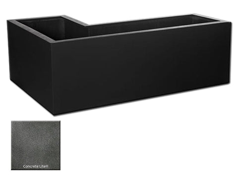 MLN L-Left Planter Container 4114 in Concrete Lite® - Outdoor Art Pros