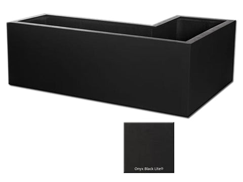 MLN L-Right Planter Container 4114 in Onyx Black Lite® - Outdoor Art Pros