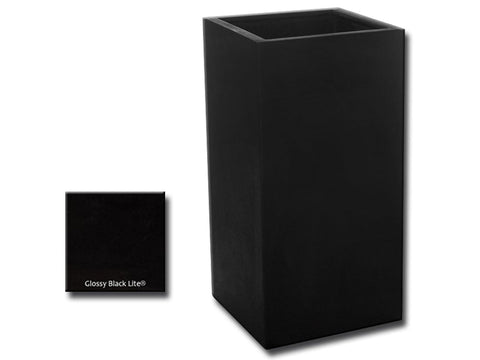 ML 1836 Square Planter Container in Glossy Black Lite® - Outdoor Art Pros