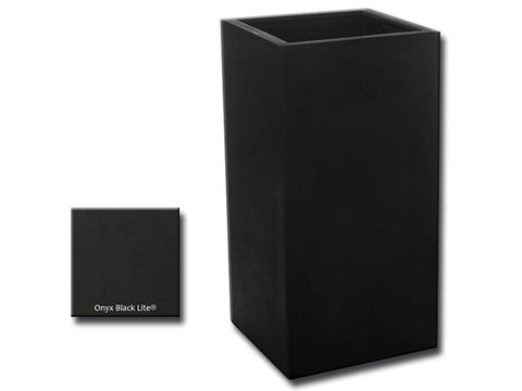 ML 1836 Square Planter Container in Onyx Black Lite® - Outdoor Art Pros