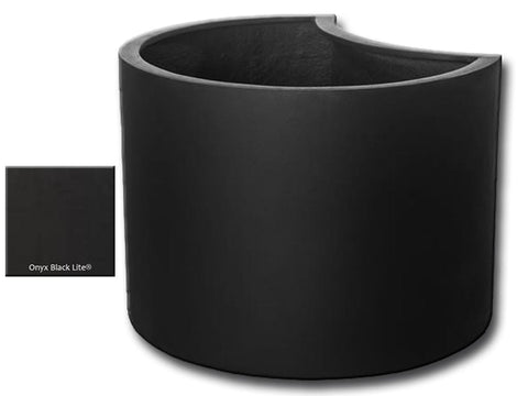 ML 2216 Petal Planter Container in Onyx Black Lite® - Outdoor Art Pros