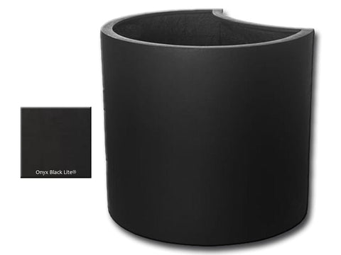 ML 2220 Petal Planter Container in Onyx Black Lite® - Outdoor Art Pros