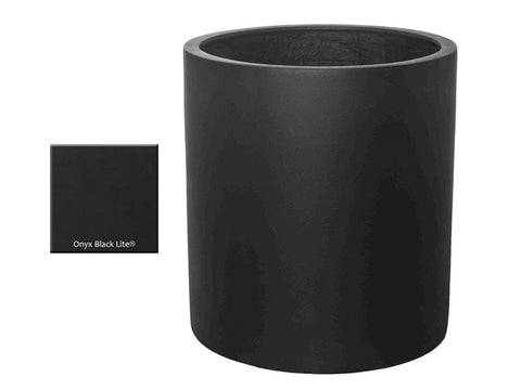 ML 2224 Round Planter Container in Onyx Black Lite® - Outdoor Art Pros