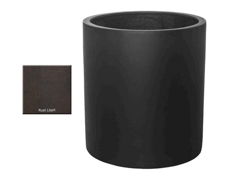 ML 2224 Round Planter Container in Rust Lite® - Outdoor Art Pros