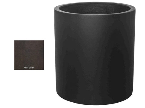 ML 2830 Round Planter Container in Rust Lite® - Outdoor Art Pros