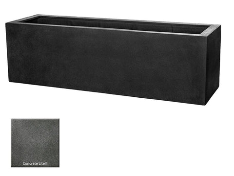 ML 5918 Rectangle Planter Container In Concrete Lite® - Outdoor Art Pros