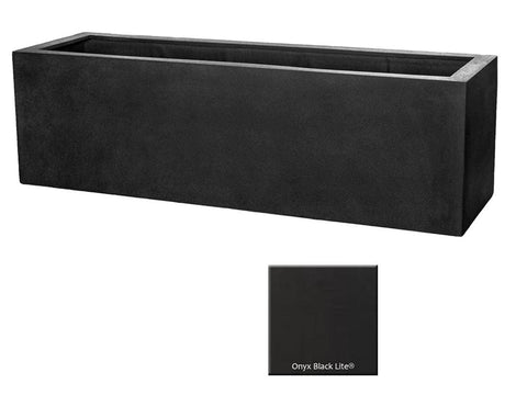 ML 5918 Rectangle Planter Container In Onyx Black Lite® - Outdoor Art Pros