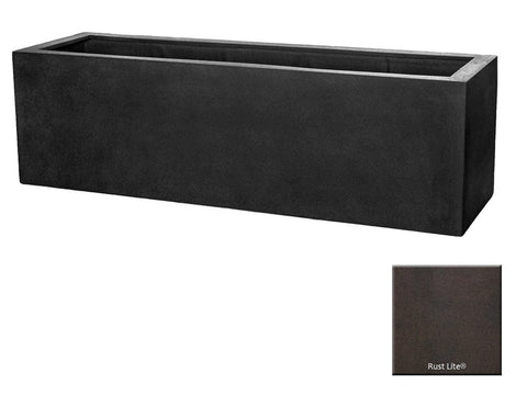 ML 5918 Rectangle Planter Container In Rust Lite® - Outdoor Art Pros
