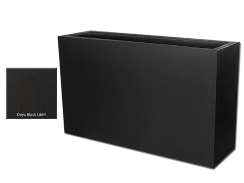 ML 5936 Rectangular Planter Container in Onyx Black Lite® - Outdoor Art Pros