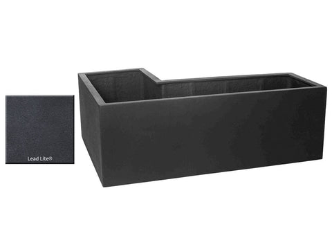 ML L-Left Planter Container 5318 in Lead Lite® - Outdoor Art Pros