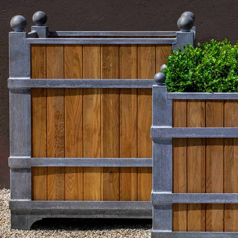Manoir Oak Square Planter - Large - Outdoor Art Pros