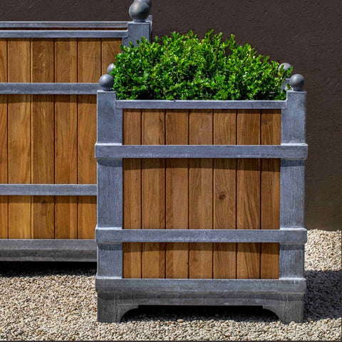 Manoir Oak Square Planter - Small - Outdoor Art Pros