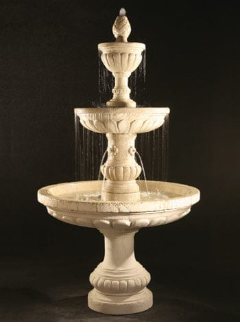 Mediterranean Fountain with Plumbed Spacer - Outdoor Art Pros