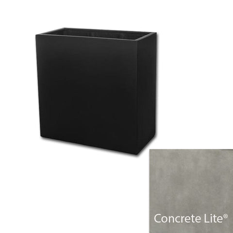 Metropolitan Square Planter 2828 in Concrete Lite® - Lightweight Planters - Outdoor Art Pros