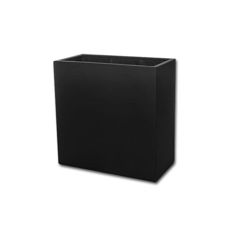 Metropolitan Square Planter 2828 in Onyx Black Lite® - Lightweight Planters - Outdoor Art Pros