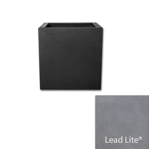 Metropolitan Square Planter 2828 in Lead Lite® - Lightweight Planters - Outdoor Art Pros