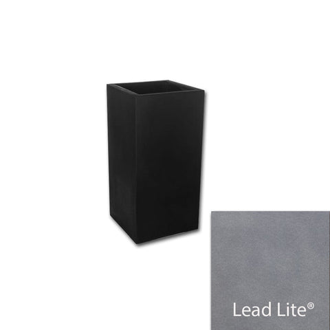 Metropolitan Square Tall Planter 1428 in Lead Lite® - Lightweight Planters - Outdoor Art Pros