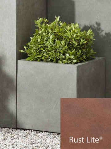 Modular Square Planter 1 in Rust Lite® - Lightweight Planters - Outdoor Art Pros