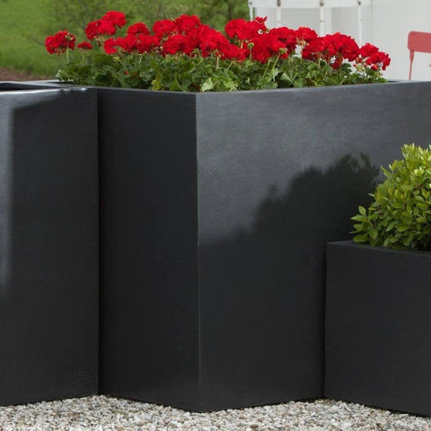 Modular Square Planter 5 in Onyx Black Lite® - Lightweight Planters - Outdoor Art Pros