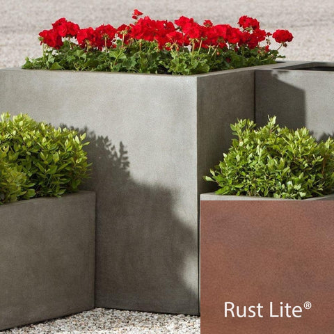 Modular Square Planter 5 in Rust Lite® - Lightweight Planters - Outdoor Art Pros