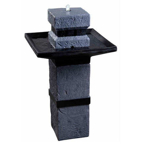 Monolith Solar Fountain - Outdoor Art Pros