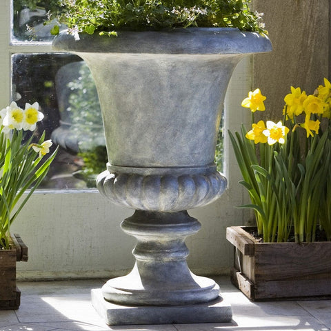 Morganna Urn Lead Lite Planter - Outdoor Art Pros