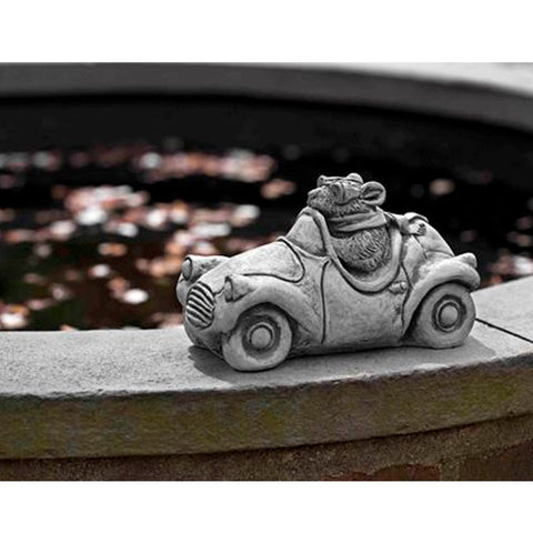Mouseratti Cast Stone Garden Statue - Outdoor Art Pros
