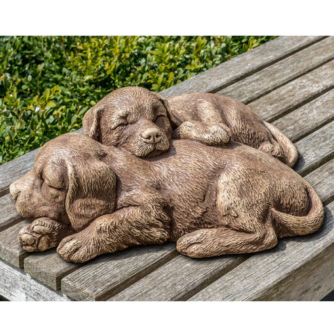 Nap Time Puppies Garden Statue - Outdoor Art Pros