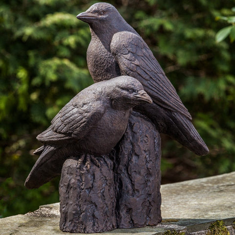 Nevermore Cast Stone Garden Statue - Outdoor Art Pros