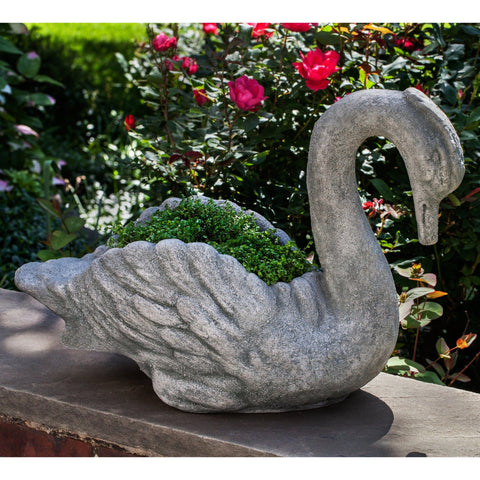 Newport Swan Garden Planter - Outdoor Art Pros