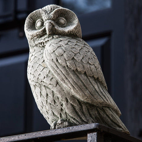 Night Owl Cast Stone Garden Statue - Outdoor Art Pros
