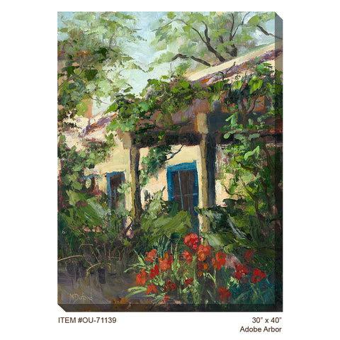 Adobe Arbor Outdoor Canvas Art - Outdoor Art Pros