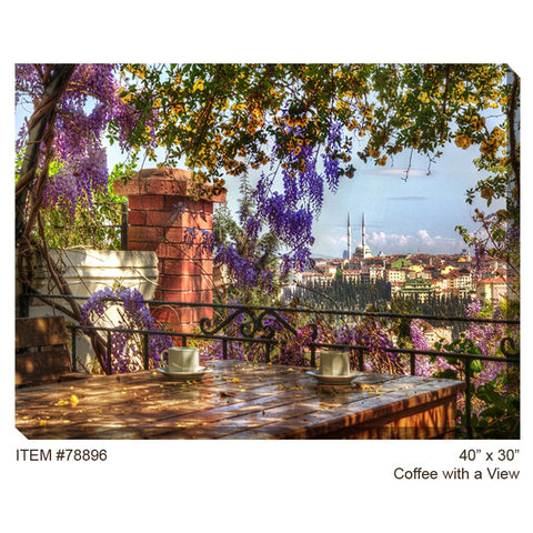 Coffee with a View Outdoor Canvas Art - Outdoor Art Pros