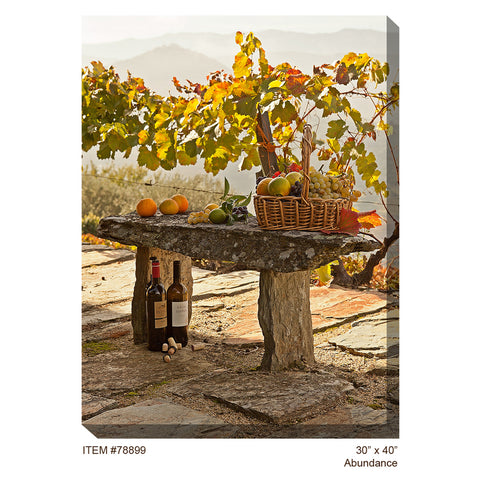 Abundance Outdoor Canvas Art - Outdoor Art Pros